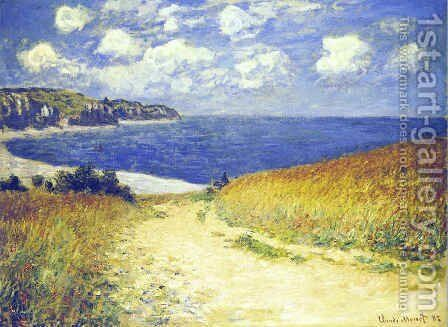 Alley near Pourville by Claude Oscar Monet - Reproduction Oil Painting
