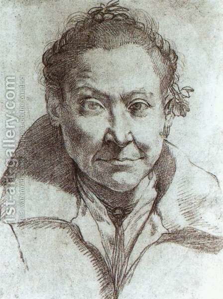 Portrait of a woman by Agostino Carracci - Reproduction Oil Painting