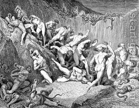 Thieves by Gustave Dore - Reproduction Oil Painting