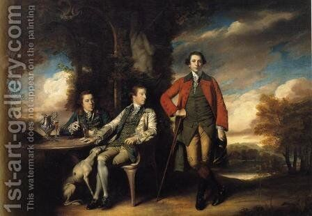 Henri Fane with His Guardians by Sir Joshua Reynolds - Reproduction Oil Painting