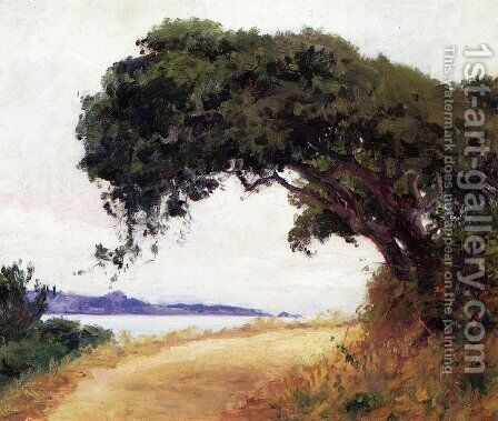 Point Lobos, Oak Tree by Guy Rose - Reproduction Oil Painting