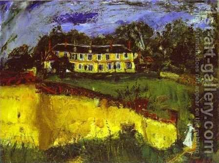 Old House near Chartres by Chaim Soutine - Reproduction Oil Painting