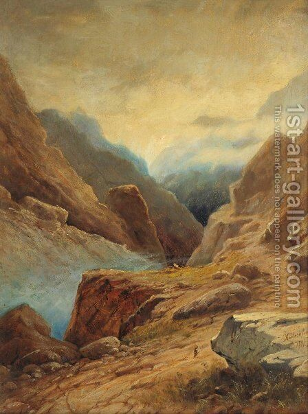 Darial Gorge 2 by Ivan Konstantinovich Aivazovsky - Reproduction Oil Painting
