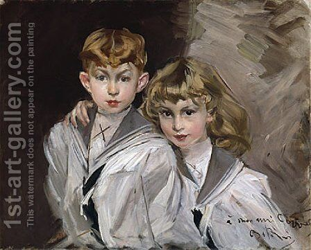 The two children by Giovanni Boldini - Reproduction Oil Painting