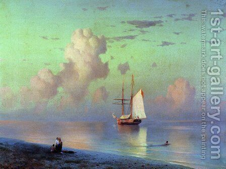 Sunset by Ivan Konstantinovich Aivazovsky - Reproduction Oil Painting