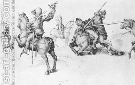 Fencing Reiter by Albrecht Durer - Reproduction Oil Painting