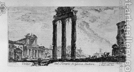 Parts of the Forum of Nerva by Giovanni Battista Piranesi - Reproduction Oil Painting