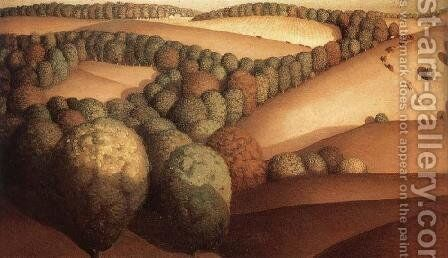 Near the sunset by Grant Wood - Reproduction Oil Painting