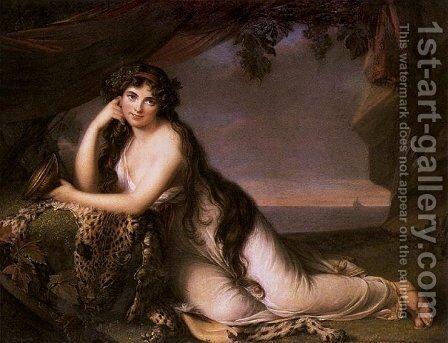 Lady Hamilton as Ariadne by Elisabeth Vigee-Lebrun - Reproduction Oil Painting
