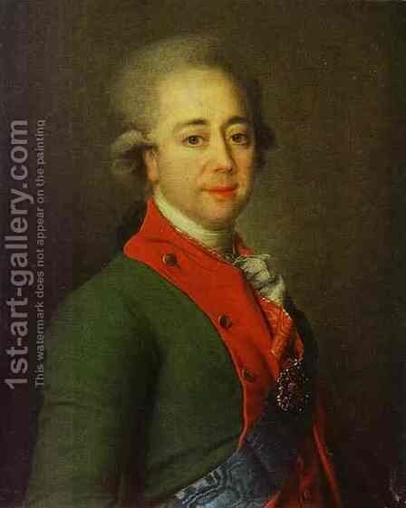 Portrait of Baron A. N. Stroganoff by Dmitry Levitsky - Reproduction Oil Painting