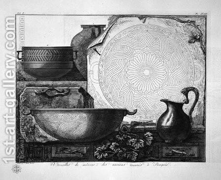 Household utensils by Giovanni Battista Piranesi - Reproduction Oil Painting