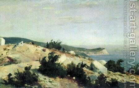 Cape Ai-Todor. Crimea by Ivan Shishkin - Reproduction Oil Painting