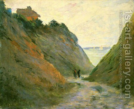 The Sunken Road in the Cliff at Varangeville by Claude Oscar Monet - Reproduction Oil Painting