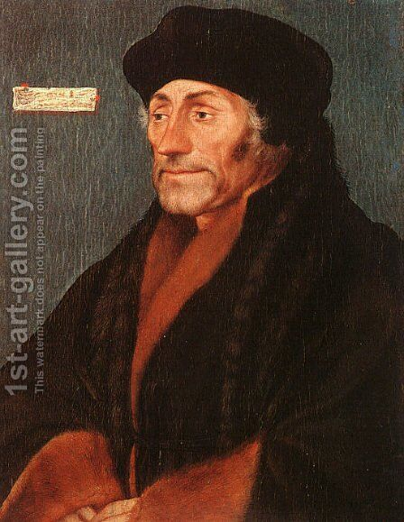 Erasmus of Rotterdam by Hans, the Younger Holbein - Reproduction Oil Painting