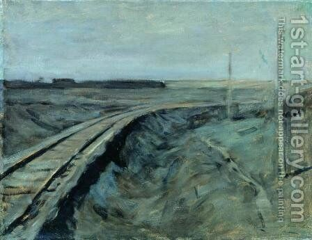 Railroad tracks by Isaak Ilyich Levitan - Reproduction Oil Painting