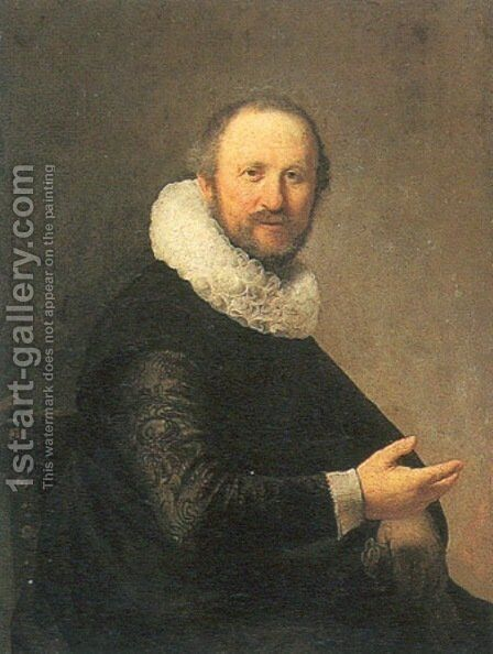Portrait of a Seated Man by Rembrandt - Reproduction Oil Painting