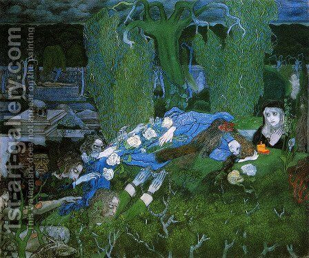 The vagabonds by Jan Toorop - Reproduction Oil Painting