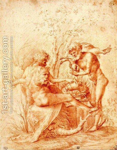 Molorchos making a sacrifice to Hercules by Andrea Mantegna - Reproduction Oil Painting