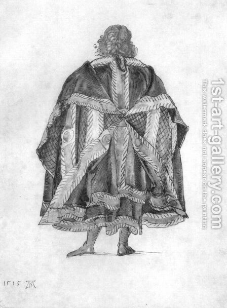 Design to a court dress 2 by Albrecht Durer - Reproduction Oil Painting