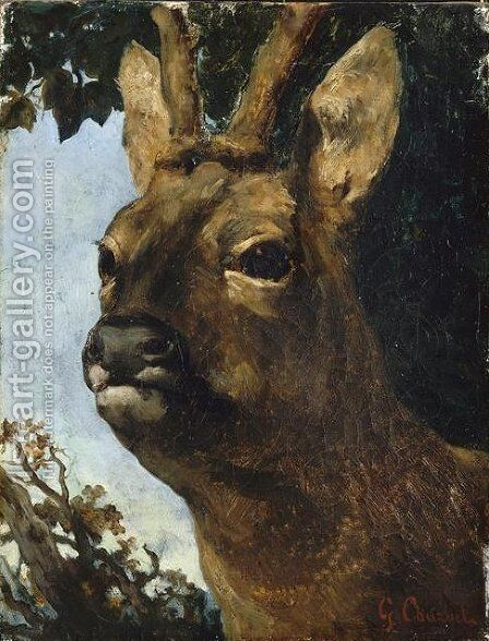 Head of a Young Doe by Gustave Courbet - Reproduction Oil Painting