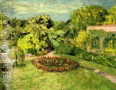 Massif near the house by Edouard  (Jean-Edouard) Vuillard - Reproduction Oil Painting