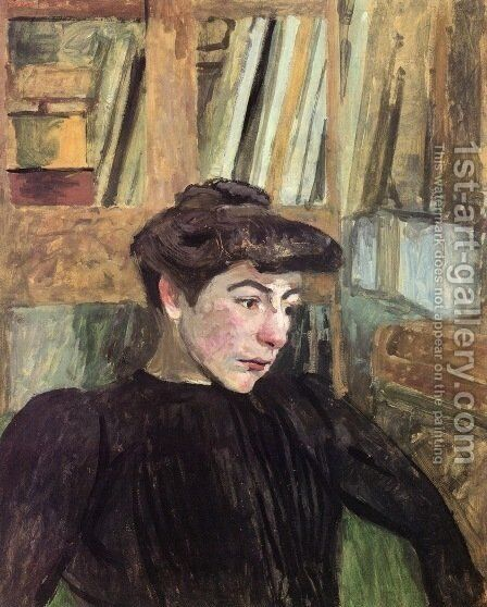 Woman with Black Eyebrows by Edouard  (Jean-Edouard) Vuillard - Reproduction Oil Painting