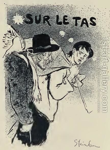 Sur Le Tas by Theophile Alexandre Steinlen - Reproduction Oil Painting