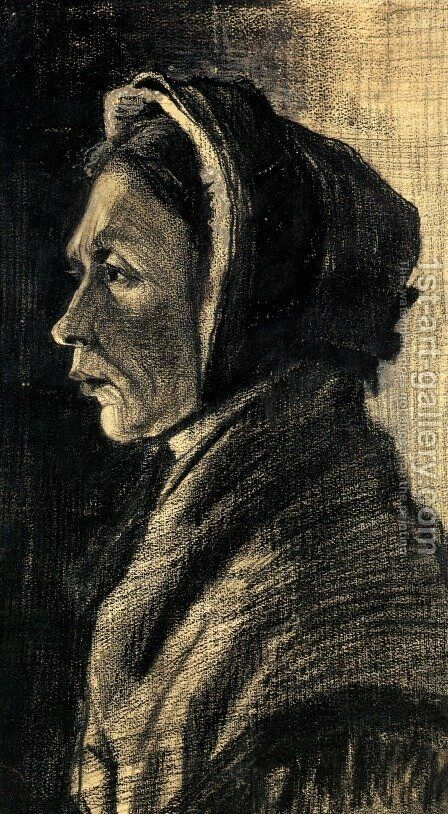 Head of a Woman 4 by Vincent Van Gogh - Reproduction Oil Painting
