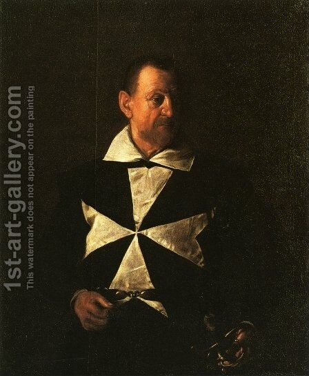 Portrait of Fra Antionio Martelli by Caravaggio - Reproduction Oil Painting