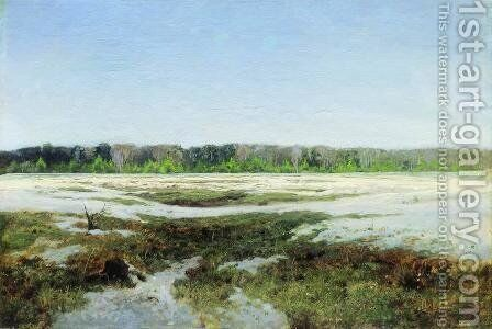 Early spring by Isaak Ilyich Levitan - Reproduction Oil Painting