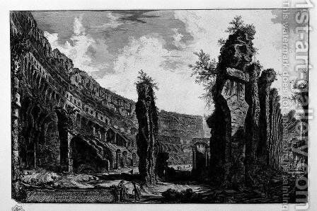 Interior View of the Flavian Amphitheatre, called the Colosseum by Giovanni Battista Piranesi - Reproduction Oil Painting