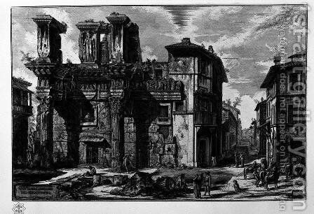 View the remains of the Forum of Nerva by Giovanni Battista Piranesi - Reproduction Oil Painting