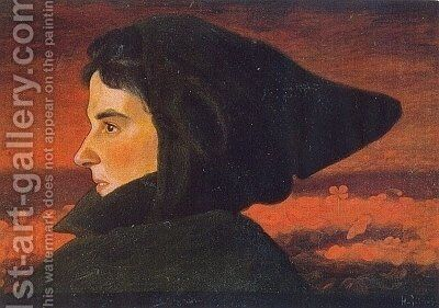 Woman by Hugo Simberg - Reproduction Oil Painting