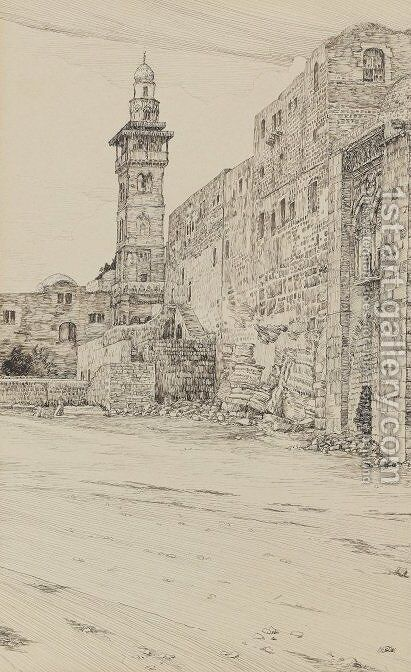 Site of the Antonia Tower by James Jacques Joseph Tissot - Reproduction Oil Painting