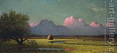 Sunlight and Shadow The Newbury Marshes by Martin Johnson Heade - Reproduction Oil Painting