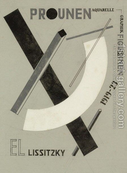 Proun 3 by Eliezer (El) Markowich Lissitzky - Reproduction Oil Painting