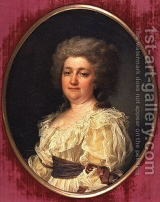 Portrait of N. Y. Levitsky (wife of the artist) by Dmitry Levitsky - Reproduction Oil Painting