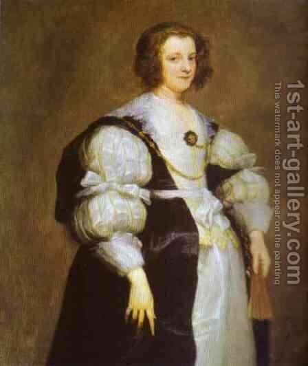 Portrait of Dona Polyxena Spinola Guzm de Lagan's by Sir Anthony Van Dyck - Reproduction Oil Painting