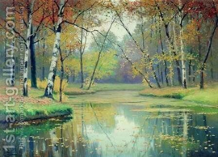 Autumn by Efim Efimovich Volkov - Reproduction Oil Painting
