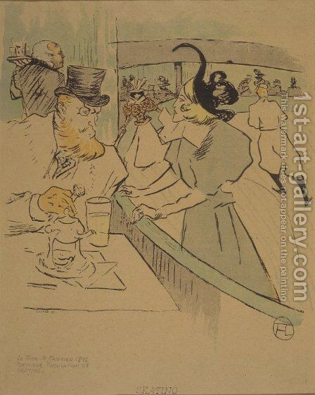 Skating by Toulouse-Lautrec - Reproduction Oil Painting