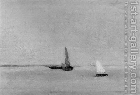 Study for Ships and Sailboats on the Delaware by Thomas Cowperthwait Eakins - Reproduction Oil Painting