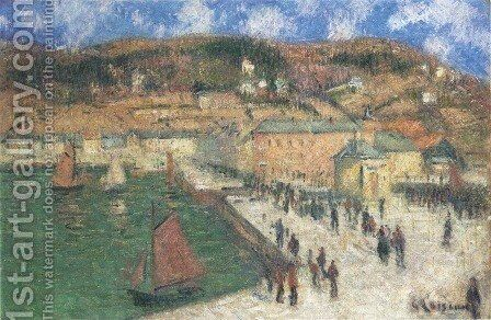 Grand Quay, Fecamp by Gustave Loiseau - Reproduction Oil Painting