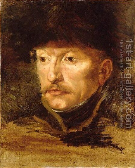 Head of a horseman by Theodore Gericault - Reproduction Oil Painting