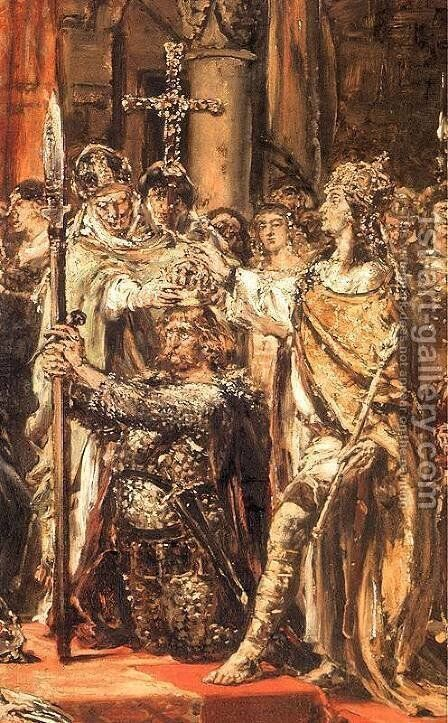 Coronation by Jan Matejko - Reproduction Oil Painting