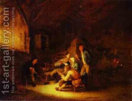 Reading a Letter by Adriaen Jansz. Van Ostade - Reproduction Oil Painting