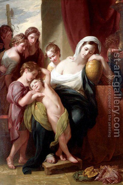 Agrippina and Her Children Mourning over the Ashes of Germanicus by Benjamin West - Reproduction Oil Painting