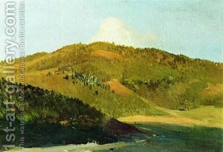 On peaks of Yaila by Isaak Ilyich Levitan - Reproduction Oil Painting