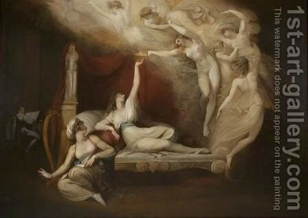 The Vision of Catherine of Aragon by Johann Henry Fuseli - Reproduction Oil Painting