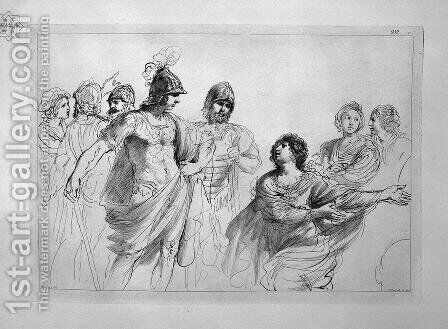 Women and warriors, by Guercino by Giovanni Battista Piranesi - Reproduction Oil Painting