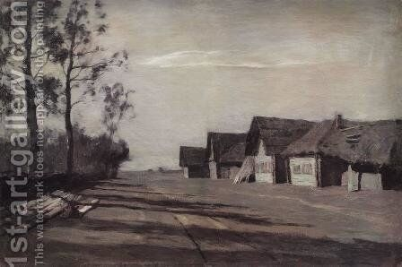 Moonlit Night. A Village by Isaak Ilyich Levitan - Reproduction Oil Painting